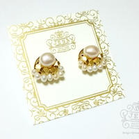 Natural Stone&Freshwater Pearl 【淡水パール】イヤリング/ピアス