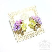 Triple flowers 【colorful】イヤリング/ピアス