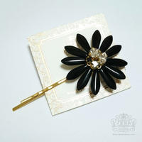 BIG Flower Pin BLACK