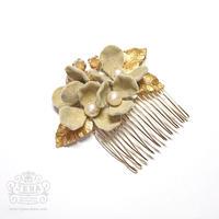 Velvet Flower Comb 【beige】
