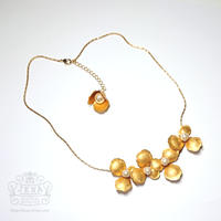 Antique petal & pearl necklace