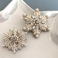 Snow crystal brooch kit