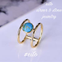 gold ring  turquoise