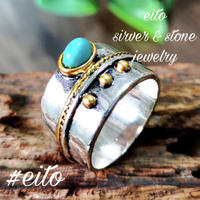 silverr ring  turquoise