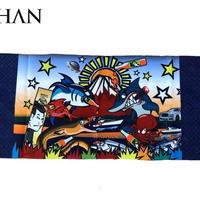 スパシャン SPASHAN オリジナル限定タオル 『SPASHAN号』デザイン ベロア風生地で肌触り&吸水性抜群!!