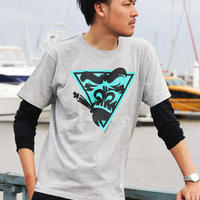 MONKEY GANG スペースモンキー デザイン Tシャツ グレー M~XXL アパレル メンズ レディース