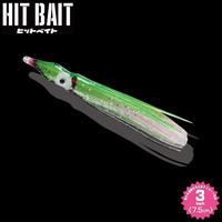 HITMANヒットベイト ラメグリーン(3.0inch) 1パック6本入り HB30-710 eltg-140
