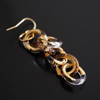 №50  BELLEZA Glass Jewelry ゴールドチェーン片耳ピアス