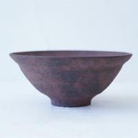 24-3 渋谷英一 「地ノ器 茶 リム鉢 」