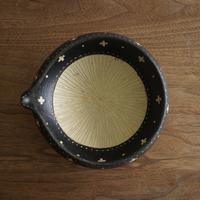 高須愛子 掻き落としすり鉢 中 (クロス柄)