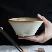仲岡信人 彩色灰釉鉢 茶 D