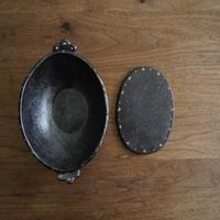 高須愛子 イッチン耐熱楕円グラタン皿 (鍋敷き付き)