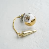 №25  BELLEZA Glass Jewelry ガラス玉片耳ピアスゴールドS