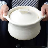 馬場勝文 米炊き土鍋(白マット・3号炊き)