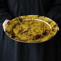 久保田健司 スリップウェア大皿  1