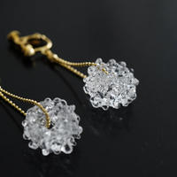 №13  BELLEZA Glass Jewelry  Crystal loop イヤリングゴールド