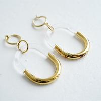 BELLEZA Glass Jewelry ゴールドチェーンイヤリング