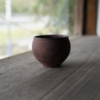 2-1 渋谷英一「地ノ器 植木鉢」 茶 丸小