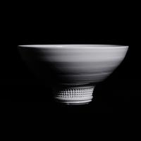 NO.162 濱中史朗 鉢 スタッズ ホワイト