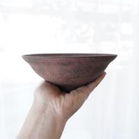 26 渋谷英一 「地ノ器 茶 リム鉢 大 」