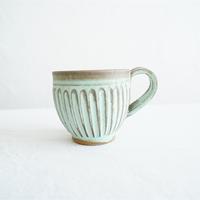 伴裕子 青銅マット釉マグカップ ①