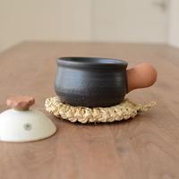 池本直子 耐熱土鍋(黒 蓋水玉 1合)