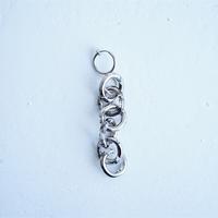 №53  BELLEZA Glass Jewelry プラチナチェーン片耳イヤリング
