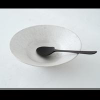 野田里美 銀彩リム鉢