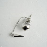 №27  BELLEZA Glass Jewelry ガラス玉片耳ピアスプラチナS
