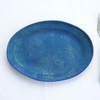 3-2 水谷智美 炻器 オーバルリム M 藍色
