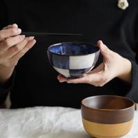 松光山(萩焼) 市松碗