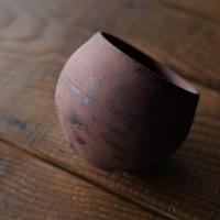 1-2 渋谷英一「地ノ器 植木鉢」 茶 丸大