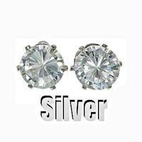 キュービックジルコニアピアス Silver 4ミリ
