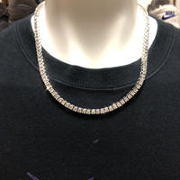 直径4mm AAAキュービックジルコニア テニス ネックレス tennis necklace