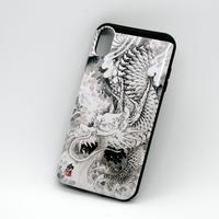 和柄 水墨龍 iPhoneXS用ケース
