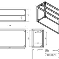 W1200D450H700水槽台+ガゼット11個