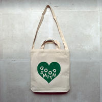"LOVE TOTE BAG ""NATURAL GREEN"""