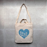 "LOVE TOTE BAG ""NEON BLUE"""