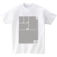 用紙サイズ測定Tシャツ