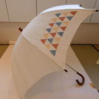 日傘 ウロコ型染 麻