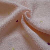 帯揚げ ベビーピンク水玉刺繍