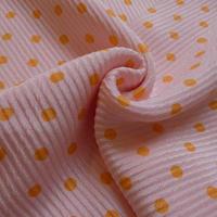 帯揚げ ピンクにオレンジドット