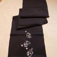 帯揚 刺繍うさぎ