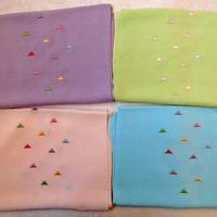 帯揚 ウロコ刺繍