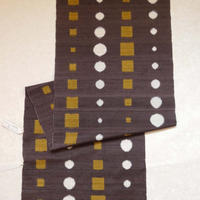 手紡ぎ糸紬  丸と四角