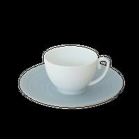 [ J.L Coquet - ジャン・ルイ・コケ ] < Hémisphère - エミスフェール >   エクストラコーヒーカップ&ソーサー 20cl  ブルーストリーム