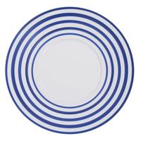 [ J.L Coquet - ジャン・ルイ・コケ ] < Hémisphère - エミスフェール >  プレゼンテーションプレート 32cm  ブルー・ロワ・ストライプ