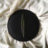 陶器のプレート (black)
