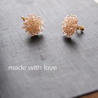 Hand made earrings or pierce-j035
