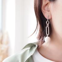 Hand made earrings&pierce -j112